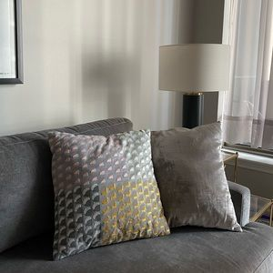 "Pair of West Elm Pillow Covers, 18"" x 18"""